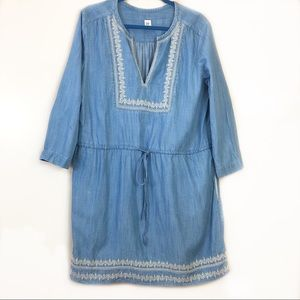 Gap Denim Dress Tie- Waist Size Large